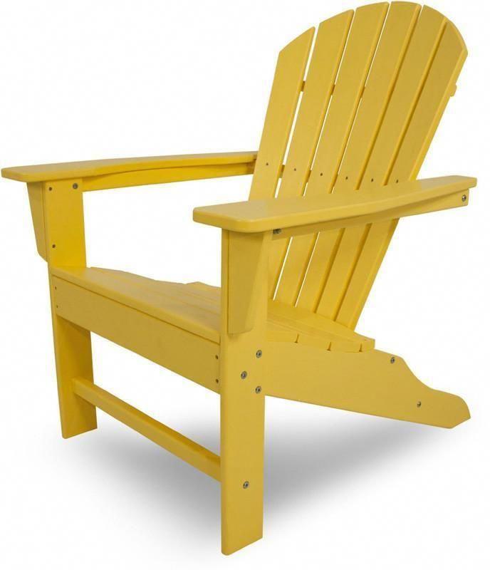 Polywood Sba15le South Beach Adirondack Lemon Finish Adirondackchairs Adirondack Chairs Patio Beach Adirondack Chairs Adirondack Chair