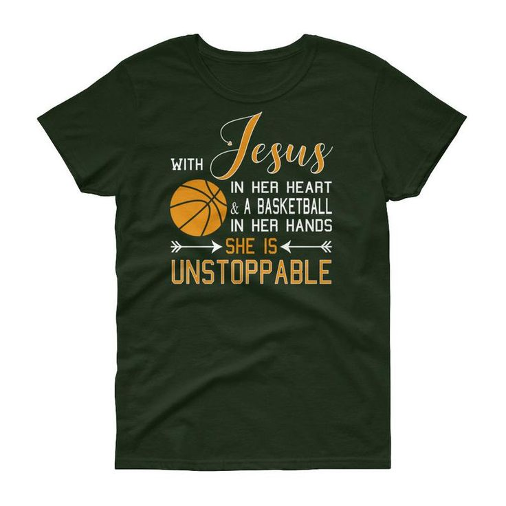 With Jesus in her Heart & a Basketball in her Hands, She is Unstoppable, Jesus Basketball shirt, Women's short sleeve t-shirt – Christmas