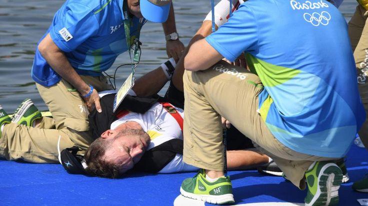 Deutsches Duo musste behandelt werden | Doppel-Kollaps beim Rudern - Olympia 2016 - Bild.de