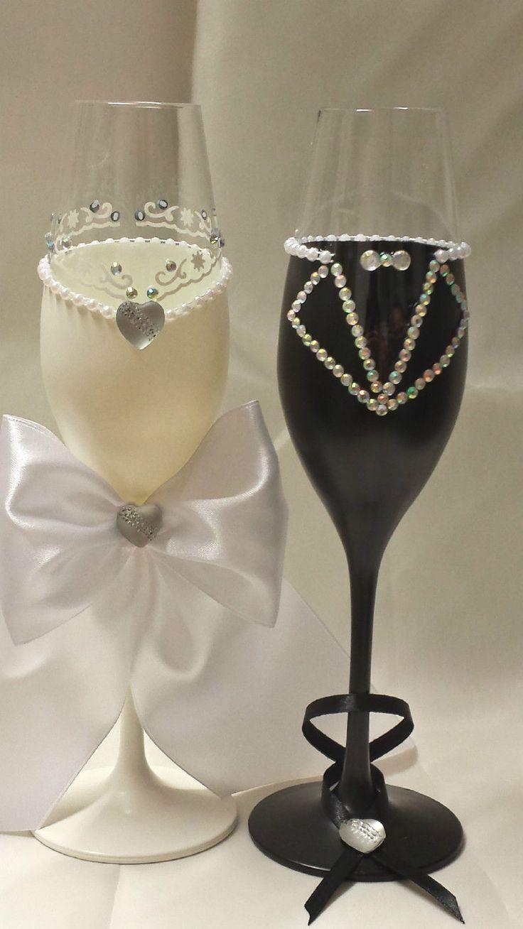 Hochzeitsgläser/Sektgläser/Hochzeitsgeschenk/HandarbeitNr.15 | eBay