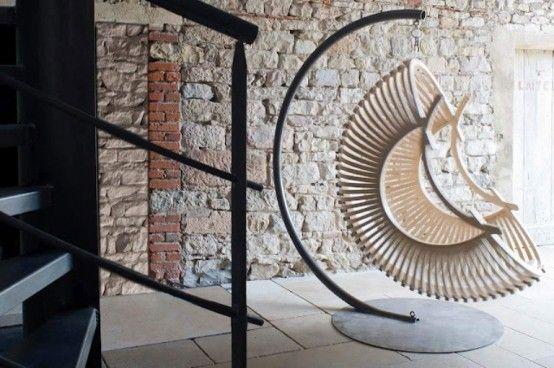 Exclusive Pendant Wooden Garden Chairs | DigsDigs