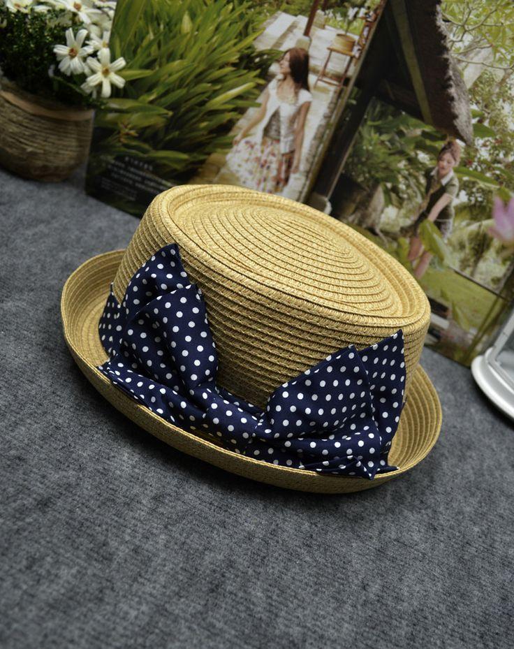 Корейский Торговый девочек летом пляж шляпа соломенная козырек улице избили Керлинг Керлинг пляж шляпа котелок - Taobao