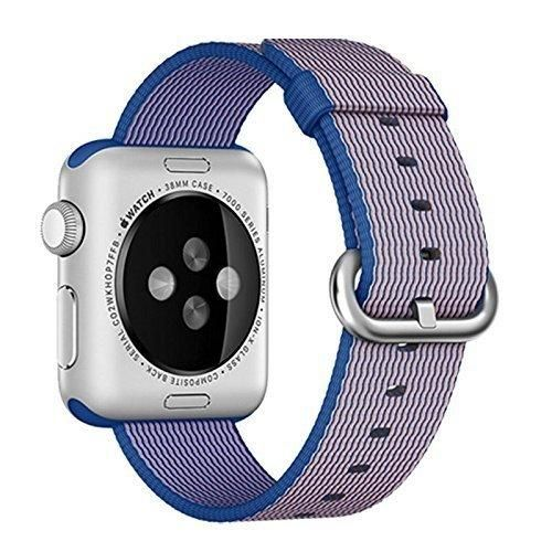 Apple Watch band Oitom Woven Nylon Watch Band Strap (Royal blue Apple Watch 42mm)