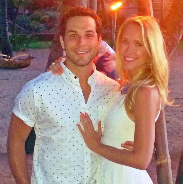 "Pin for Later: Pitch Perfect's Anna Camp and Skylar Astin Are All About PDA  Skylar: ""North Shore, Maui with my someone."""