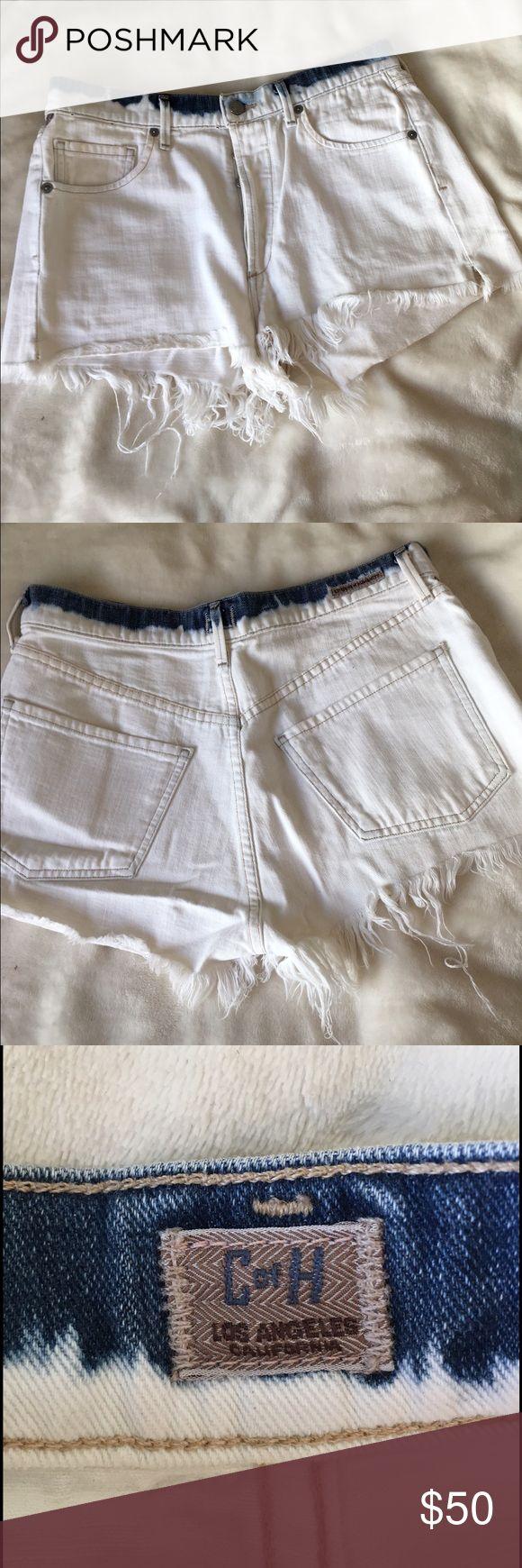 Citizens of Humanity denim cutoff jean shorts Citizens of Humanity denim cutoff shorts. White with denim around waist. Size 28 Citizens of Humanity Shorts Jean Shorts