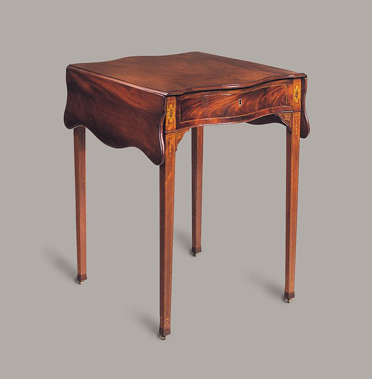 "Fig. 8: Breakfast table attributed to the Martin Pfeninger Shop, 1775–1780, Charleston, SC. Mahogany and mahogany veneer with cypress and ash; HOA: 28-7/8, WOA (open): 35-3/4, WOA: (closed): 21-1/2"", DOA: 24-3/4"". MESDA Acc. 4455. MESDA Object Database file S-1696. <a onclick='return hs.printImage(this)' href='#'>Print</a>"