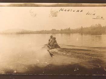 Atikamekw fishermen on Lake Metabeskega in Quebec - 1916