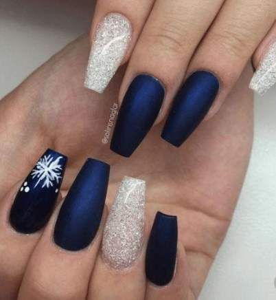 best nails coffin christmas shape ideas  christmas nail