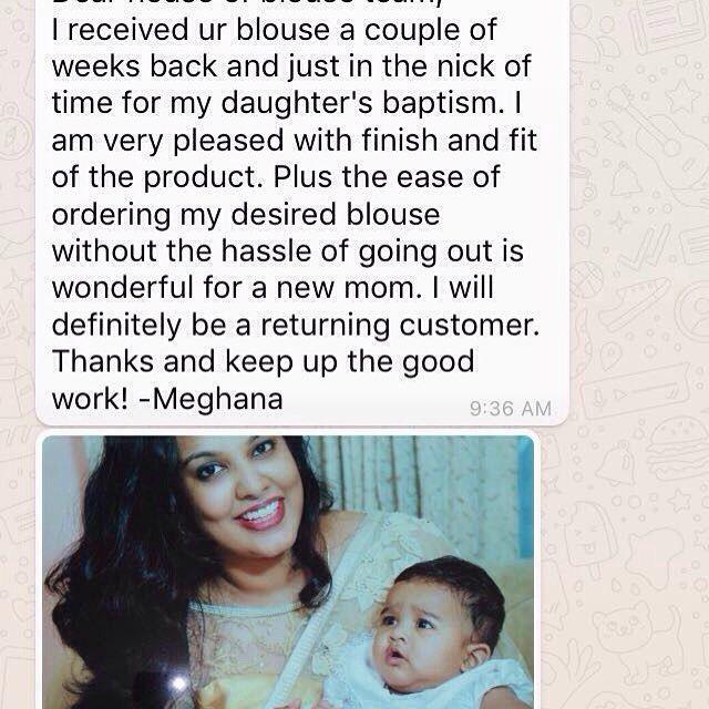 Customer love  #houseofblousedotcom #customerlove #meghana