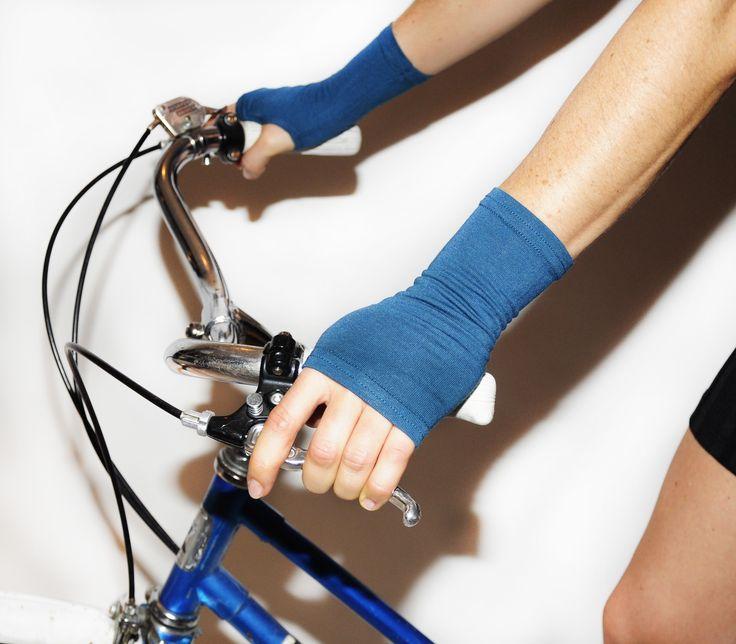 Short Bamboo Fingerless Gloves $24 www.heiditheartist.ca
