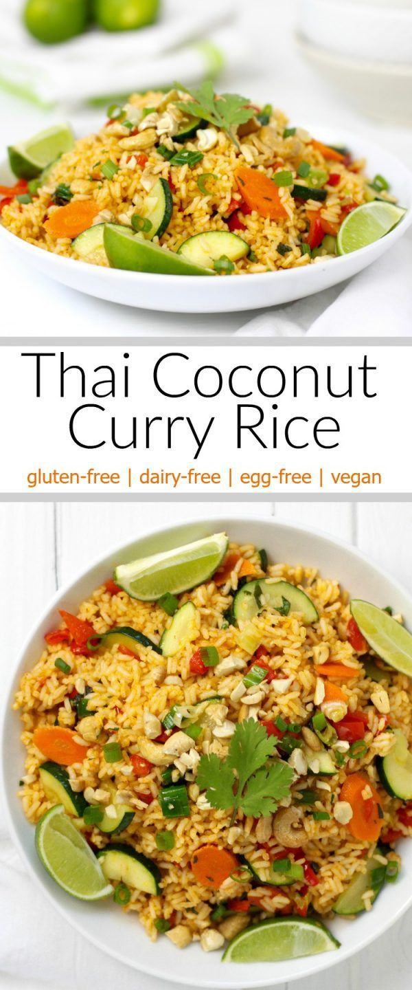 Thai Coconut Curry Rice-maybe try with cauliflower rice!