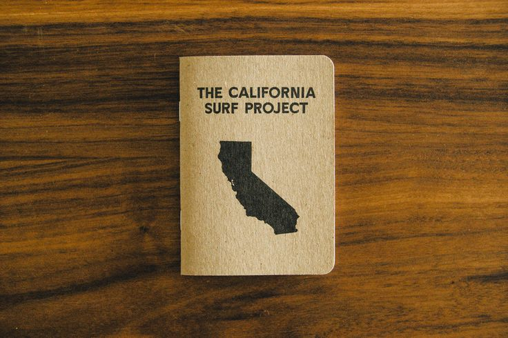 California Surf Project- Field Notebook A pocket sized notebook perfect for recording any adventure.  32 blank pages  100% recycled  Email info@burkardphoto.com for more to order