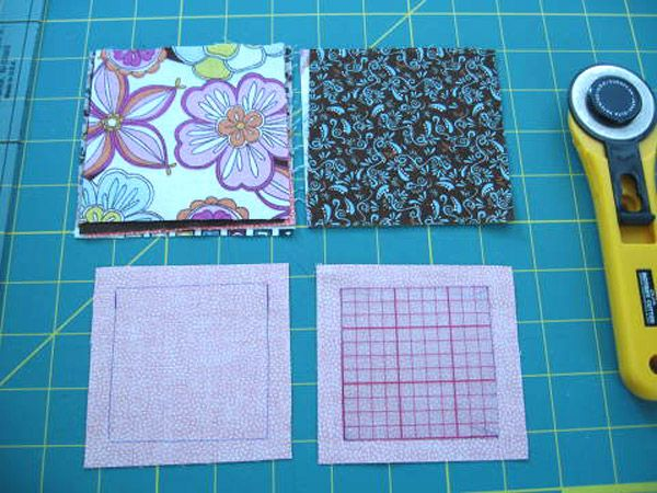 This patchwork bag is made using charm squares and has a great shape due to the way that fabric squares are sewn together. Сумка из квадрато...
