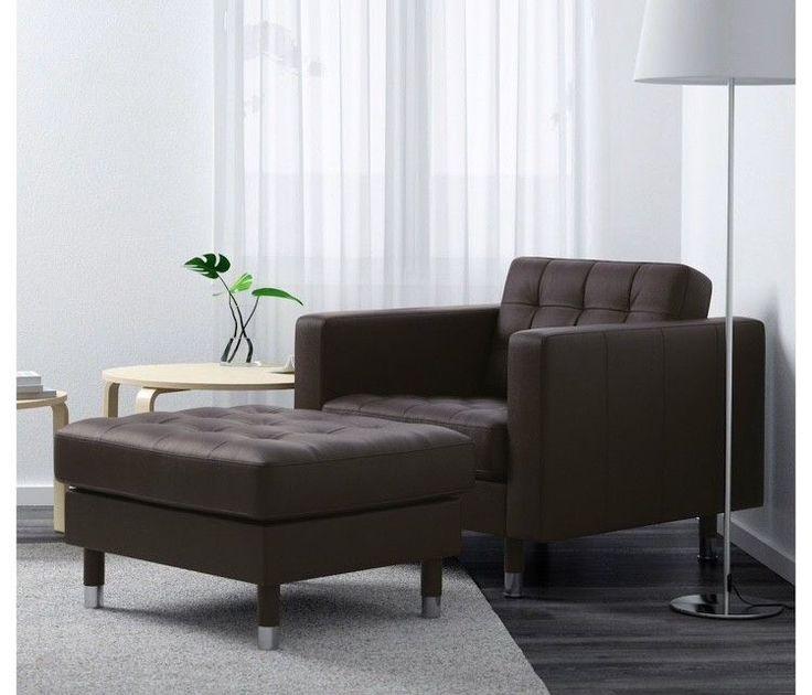 (202) FINN – 2 stk helt nye IKEA lenestoler i brunt skinn