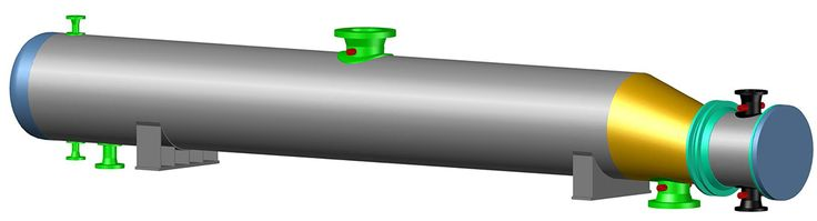"""Here is my one of my latest CADWorx Models. It's a Depropanizer Reboiler. The vessel I modeled in CADWorx Equipment 2014. Stay tuned as I model an entire 4 unit process facility. The facility and it's components are taken from """"Pipe Drafting and Design"""", Third Edition."""