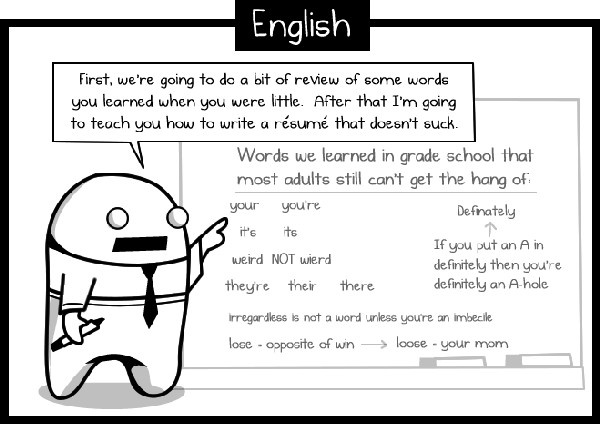 High School English - i like the idea of a lesson on commonly misspelled words. because they drive me nuts!: English Lessons, High School, The Oatmeal, English Teacher, Funny, Humor, Grammar