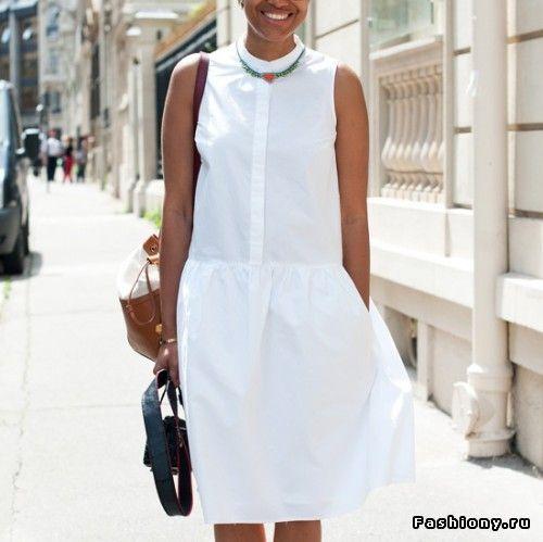Летнее белое платье / модные платья с фото