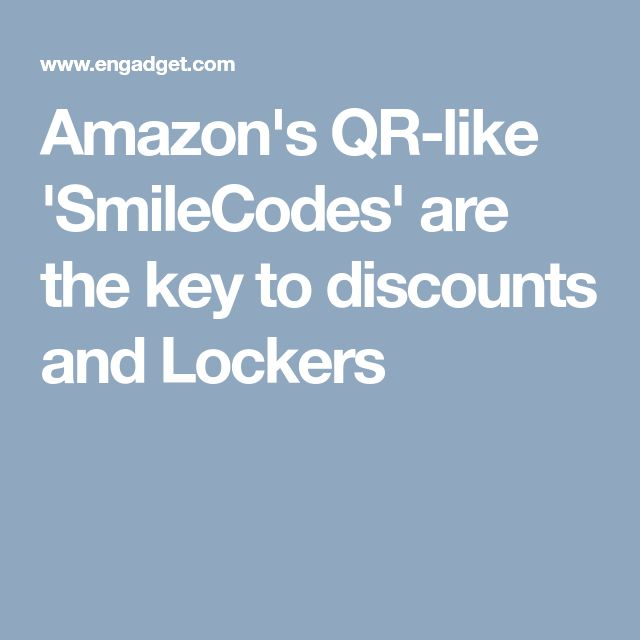 Amazon's QR-like 'SmileCodes' are the key to discounts and Lockers