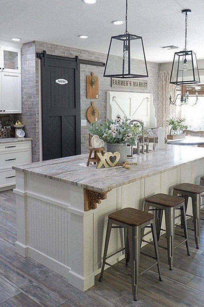 45 Awesome Farmhouse Kitchen Makeover Design Ideas On A Budget 32 Home Decor Kitchen Modern Farmhouse Kitchens Kitchen Remodel