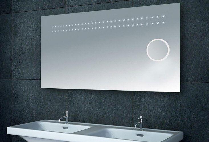 Mooie badkamerspiegel met vergrotingsspiegel make-up spiegel 120 cm