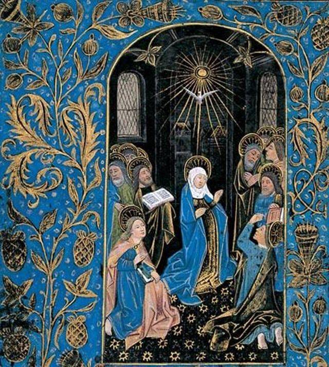 Libro de horas de la Biblioteca Morgan. Los manuscritos negros son libros fabricados con pergamino teñido de negro que se produjeron en Flandes a finales siglo XV d.C.  #librosantiguos #manuscritos #oldbooks