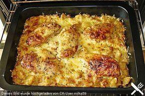 Bratkartoffelauflauf mit Schnitzel