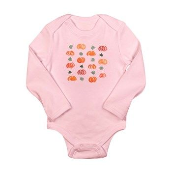 Long Sleeve Infant Pumpkins Body Suit