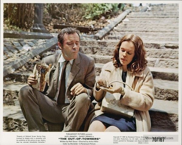 The Out -of -Towners (1970) Jack Lemmon and Sandy Denis - A Neil Simon  Story | Jack lemmon, Jack lemmon movies, Paramount pictures