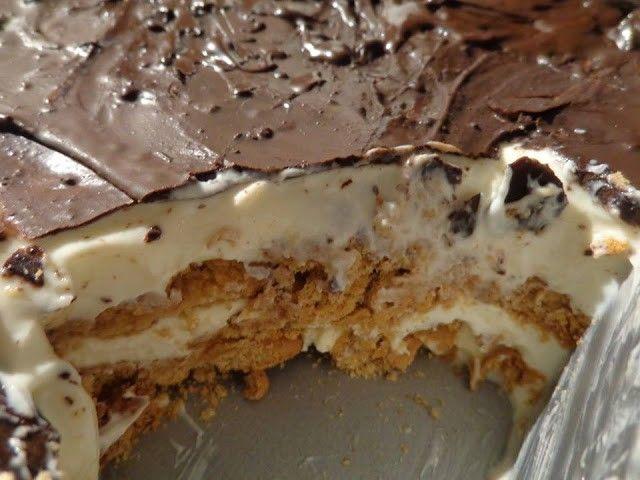 γρηγορο γλυκο με ζαχαρουχο μπισκοτα και σοκολατα