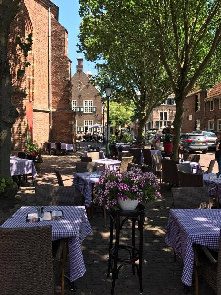Terras, Restaurant Mixit, Vesting, Naarden.