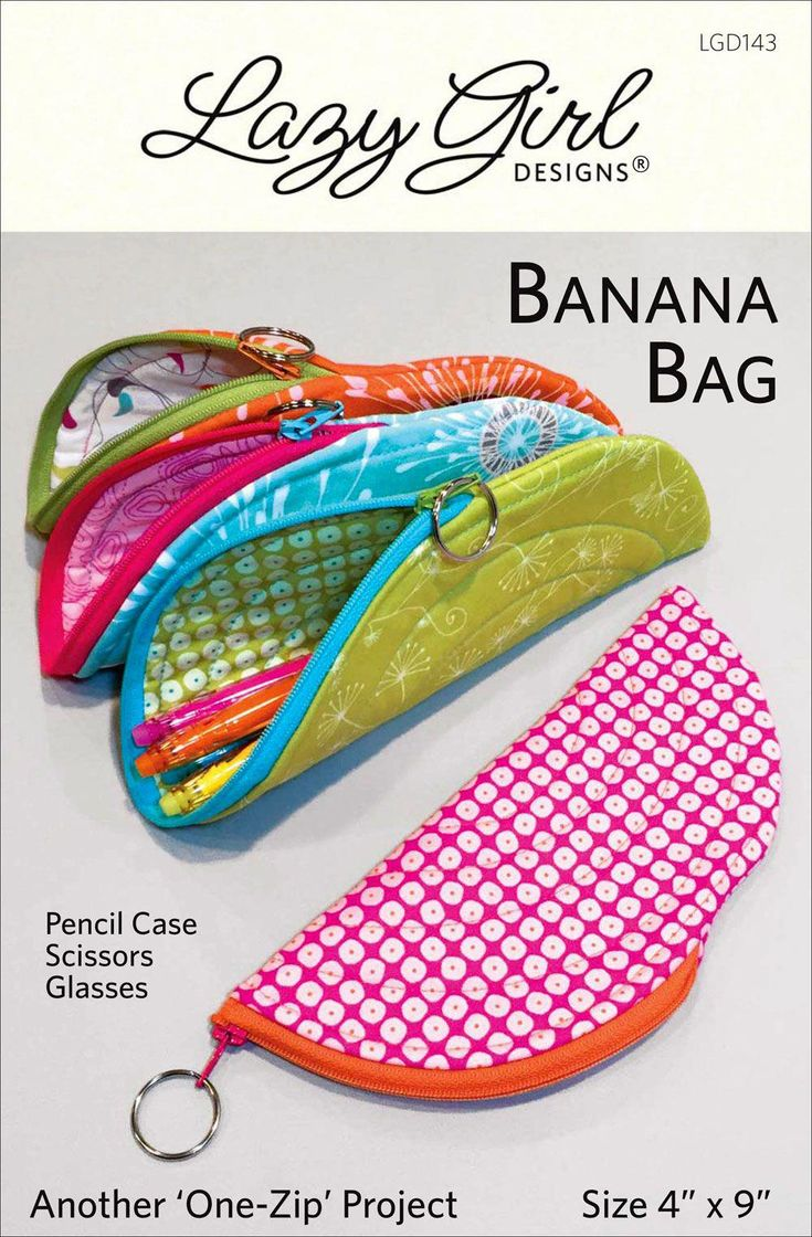 Banana Bag sewing pattern from Lazy Girl Designs
