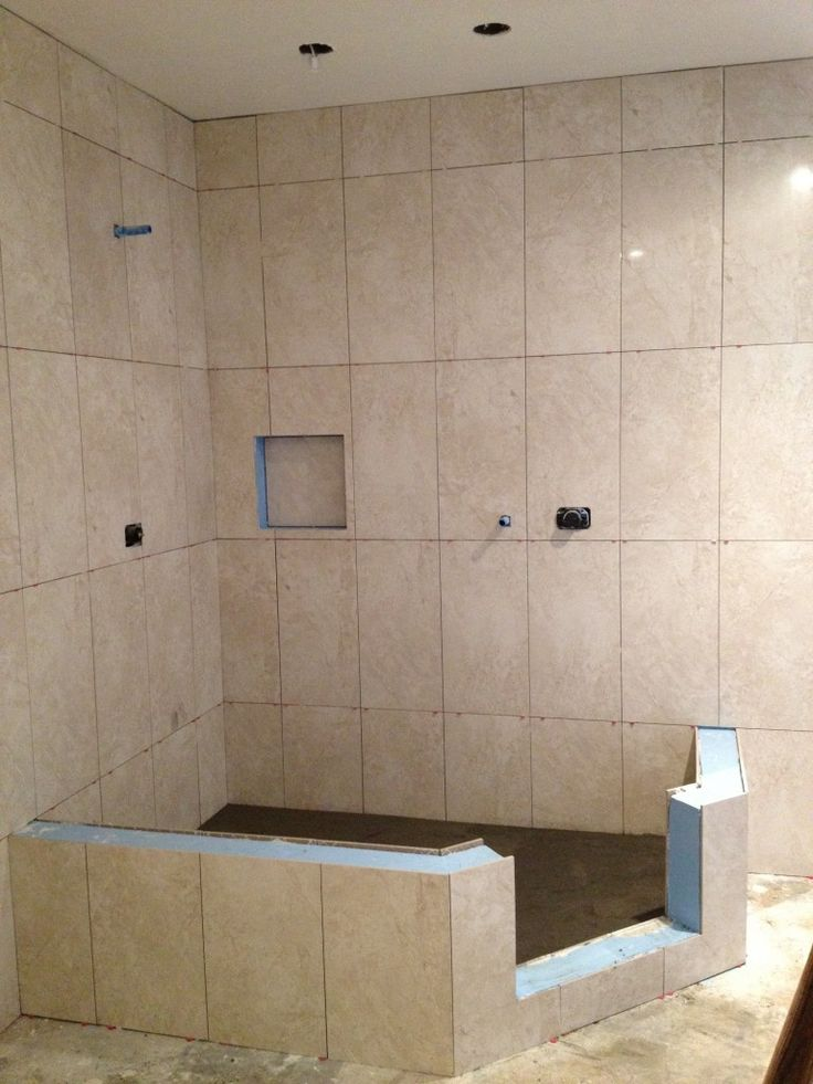 Vertical Shower Tile In A Straight Lay In 2019 Shower