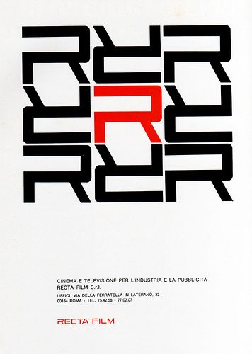 1960s Advertising - Magazine Ad - Recta Film (Italy) by Pink Ponk, via Flickr