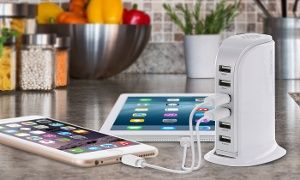 Groupon - Aduro PowerUp 40-Watt 6-Port USB Charging Station in [missing {{location}} value]. Groupon deal price: $24.99