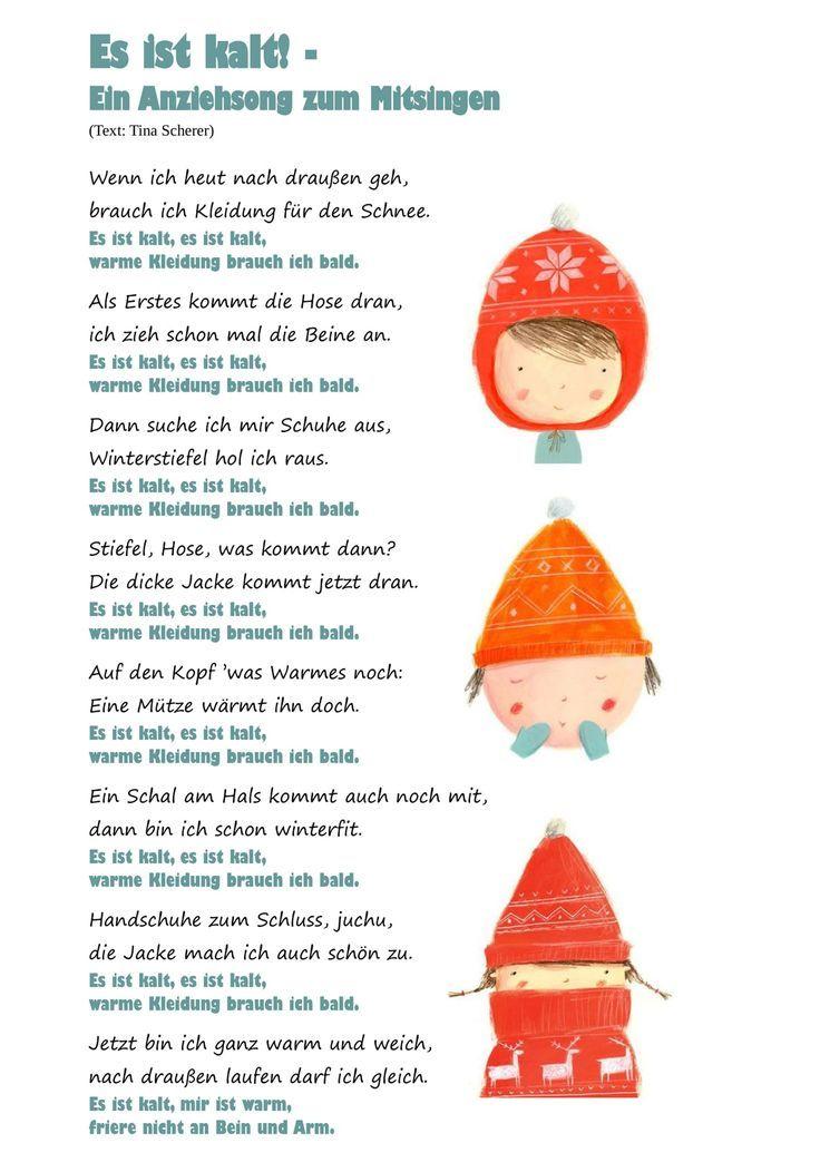 """""""Es ist kalt"""" Ein Kleid zum Mitsingen   – Kita – #ein #ist #kaltquot #Kita #Kleid"""