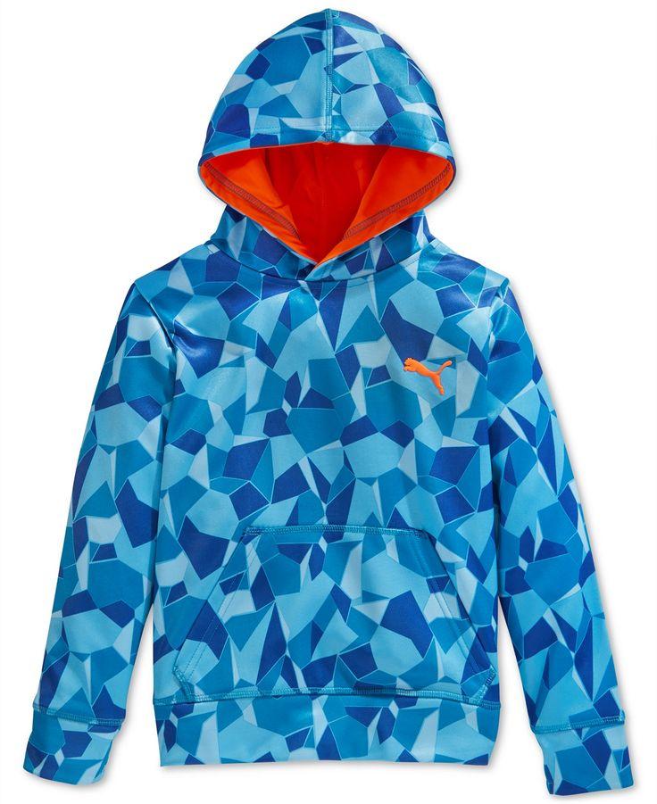 Puma Boys' Broken Glass-Print Hoodie - Activewear - Kids & Baby - Macy's