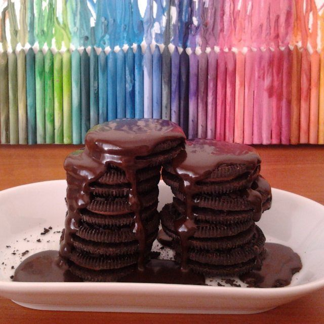 #food #chocolate #paint #colors #colours #oreo #triplechocolate #hungry #dessert