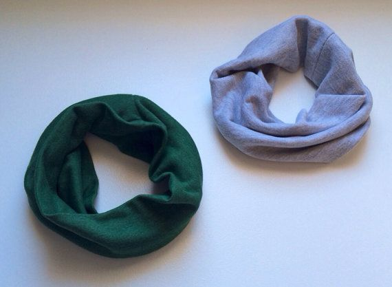 Cowl Scarf - gray or green on Etsy, $12.00 CAD