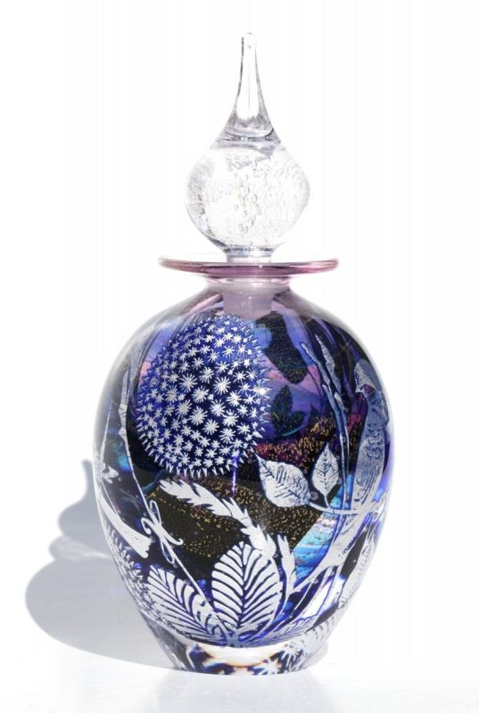 glass perfume bottles | ... graal perfume code swallow chaffinch glass perfume bottle 15 5cm
