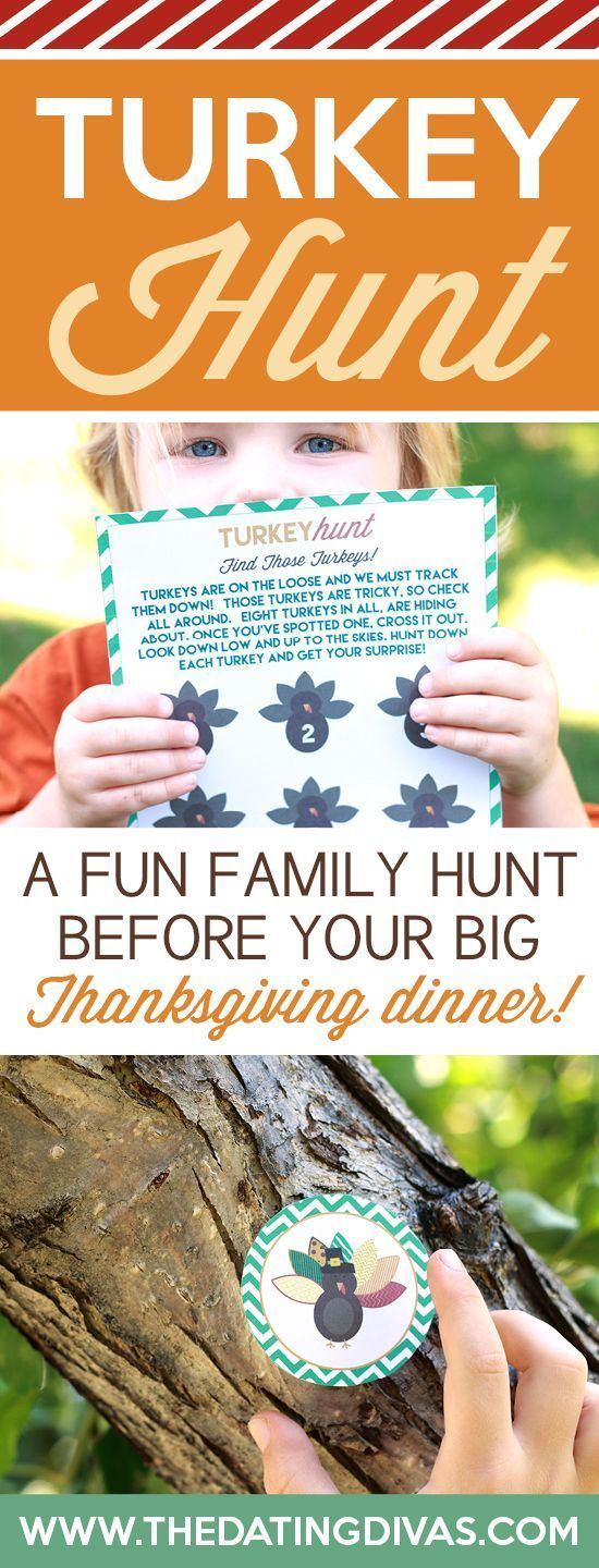 I think it would be so fun to have a Turkey Hunt with the whole family before the big Thanksgiving dinner! www.TheDatingDivas.com