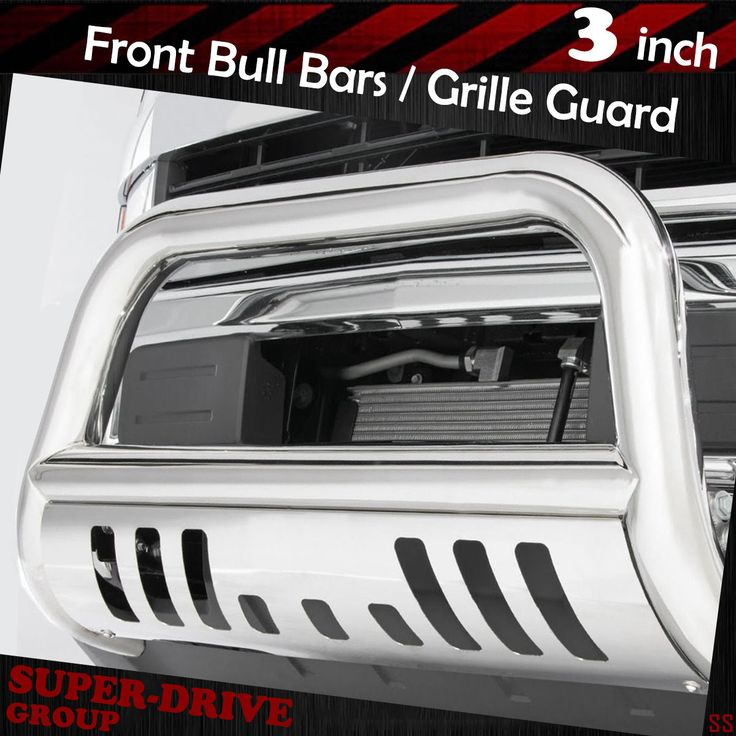 2007-2010 CHEVY SILVERADO GMC SIERRA 2500HD 3500HD Chrome Bull Bar Grille Guards
