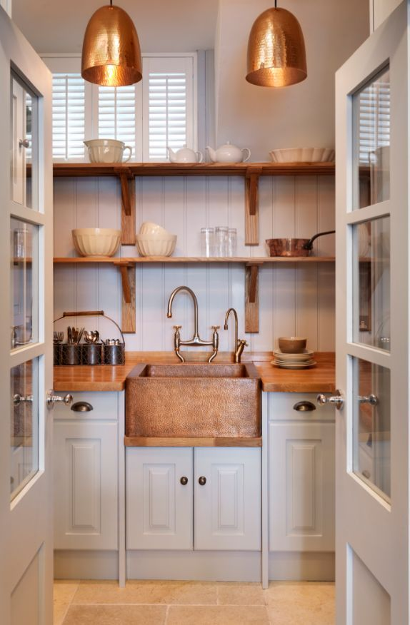 A walk-in pantry is the ultimate kitchen luxury. Kitchen Sourcebook loves this handmade design by John Lewis of Hungerford