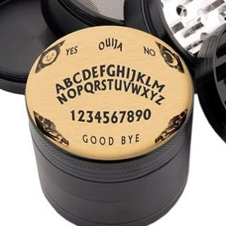 Your own Ouija board and grinder in 1! Spirits Say Yes...#weedfeed #weedporn…