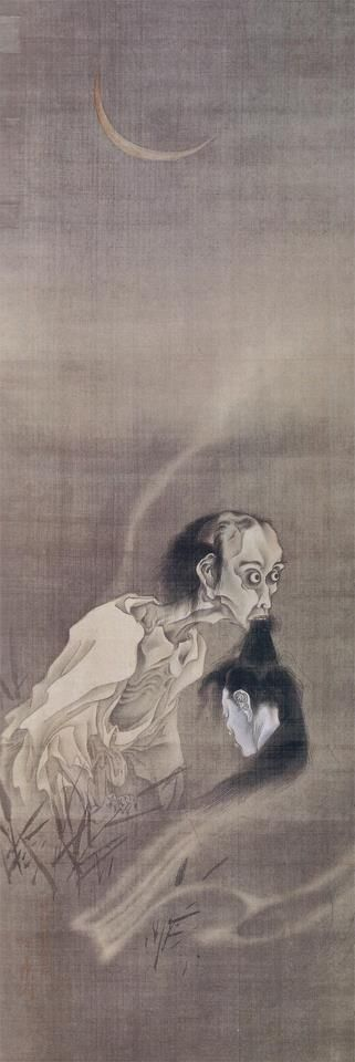 Ghost, Kawanabe Kyosai (1870) I notice there were a lot more paintings of ghosts b4 1900. Maybe because people were not skeptical back then & more open-minded.  If there are so many paintings, I would think that at least that many people believed!