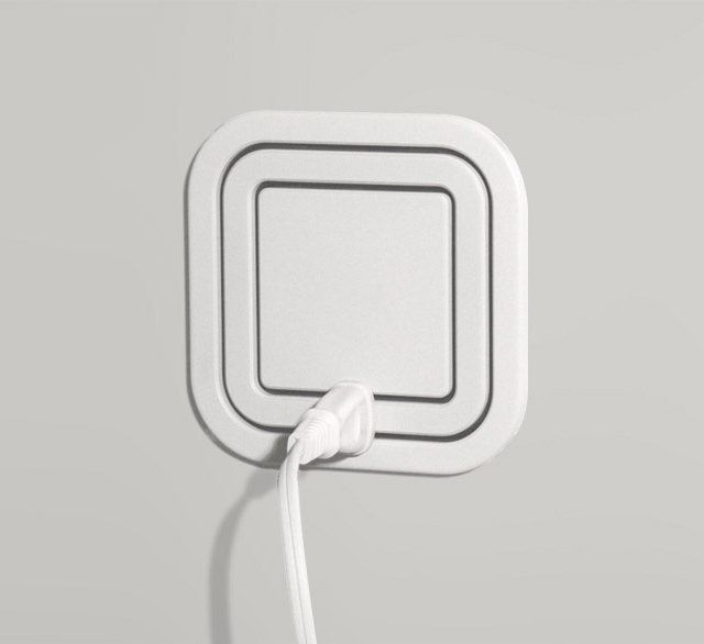 This electrical outlet eliminates the need for power strips, and looks much nicer on your wall.