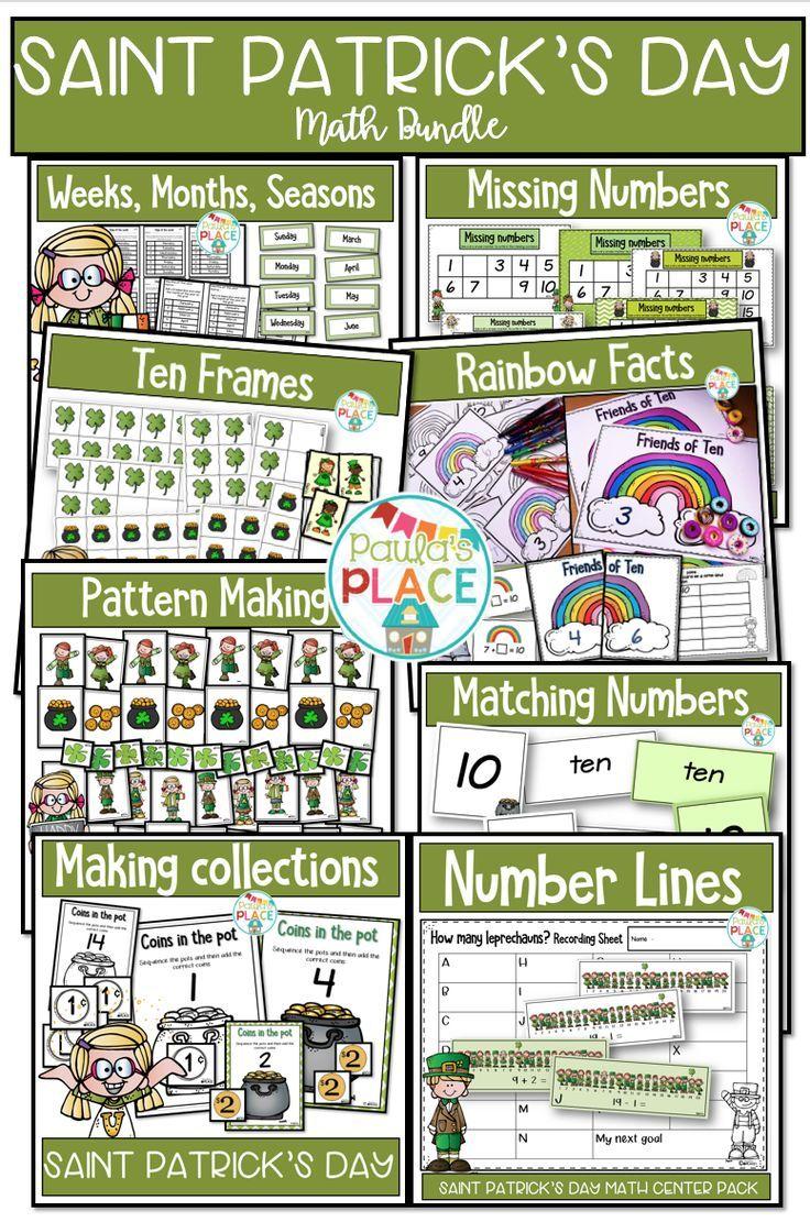 Saint Patrick S Day Math Bundle In 2021 Math Bundle St Patricks Day Math [ 1111 x 736 Pixel ]