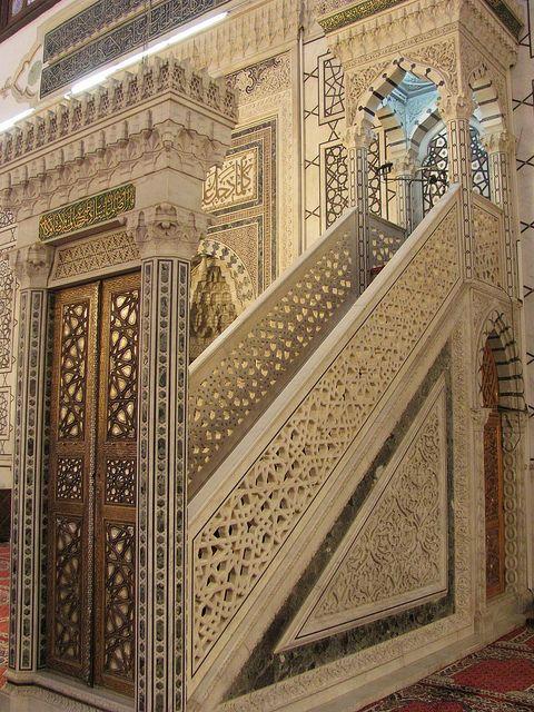 Minbar in Umayyad Mosque - Damascus | Flickr - Photo Sharing!