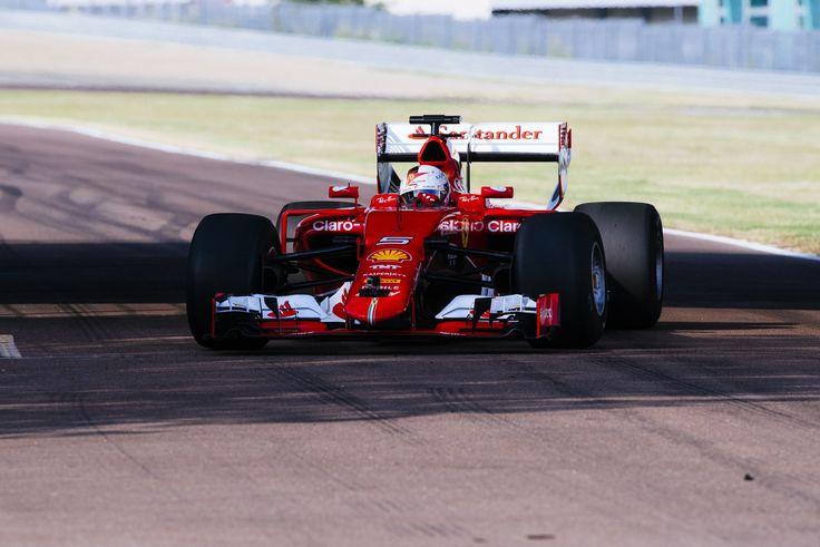 Sebastian Vettel testing new 2017 Pirelli tyres (Ferrari) [4000x2670]
