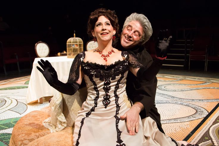 Stephanie Foster and David Scott in Tartuffe! 2014 http://www.svshakespeare.org