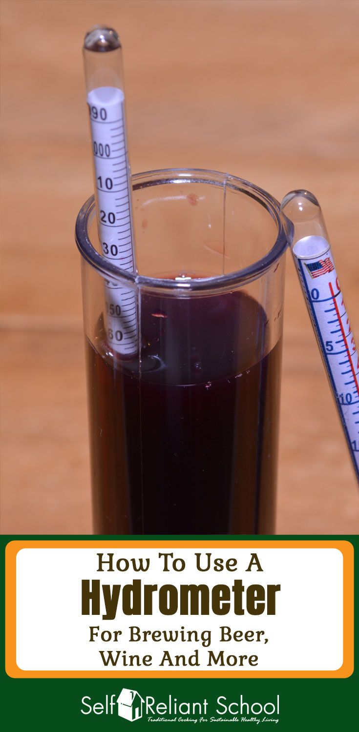 How to use a hydrometer to measure the alcohol content of your homebrewed beer, wine, cider or mead. #beselfreliant via @sreliantschool